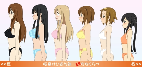 k-on-chichi-kurabe-breast-comparison-brassiere-version